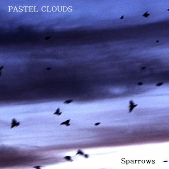 pastel clouds sparrows