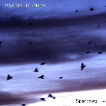 pastel clouds sparrows